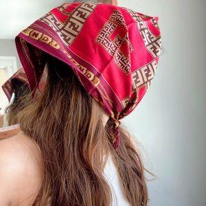 FENDI vintage cotton handkerchief/mini scarf